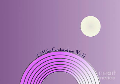 I Am The Creator Of My World Poster