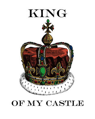 I Am The King Of My Castle Poster by Madame Memento