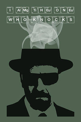I Am The One Who Knocks - Breaking Bad Poster Walter White Quote Poster by Beautify My Walls