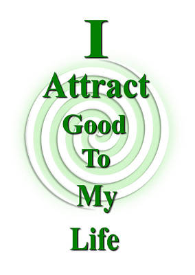 I Attract Green Poster by I Attract Good