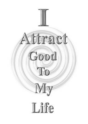 I Attract Silver Poster