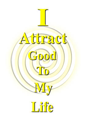 I Attract Yellow Poster by I Attract Good