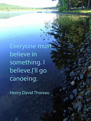 I Believe I'll Go Canoeing Poster by Susan Lafleur