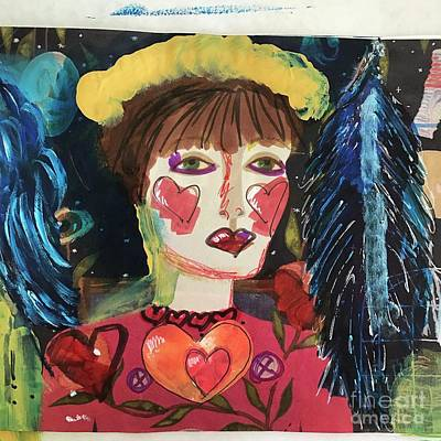 Poster featuring the painting I Carry Your Heart In My Heart by Kim Nelson