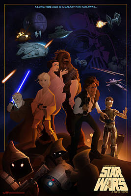 Poster featuring the digital art I Grew Up With Starwars by Nelson Dedos  Garcia