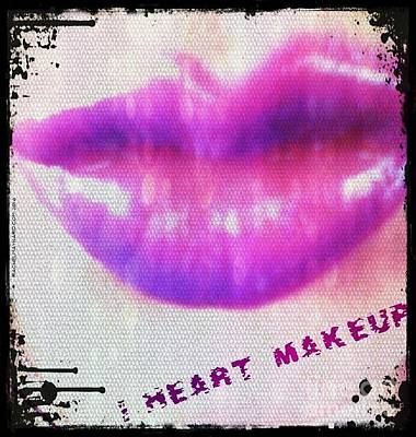 Poster featuring the photograph I Heart Makeup by Rachel Maynard