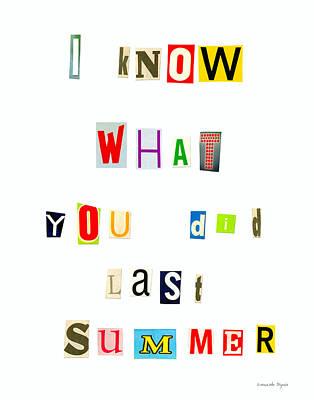 I Know What You Did Last Summer - Da Poster by Leonardo Digenio