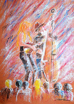 Poster featuring the painting I Love Bluegrass by Bill Holkham