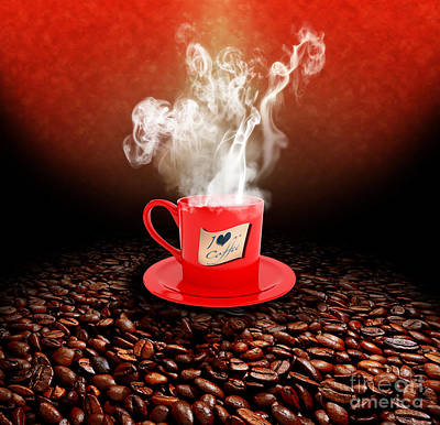 I Love Coffee Poster by Stefano Senise