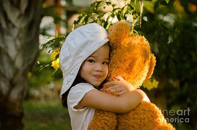 I Love My Teddy Bear Poster