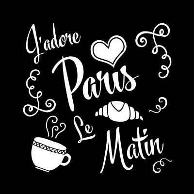 I Love Paris Mornings Poster by Antique Images