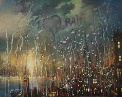 I Love Rain Poster by Tom Shropshire