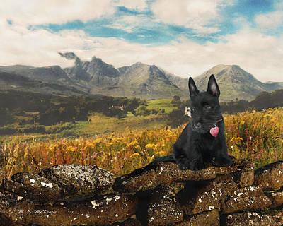 I Love Scotland Scottiish Terrier Poster by M S McKenzie