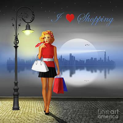I Love Shopping Poster