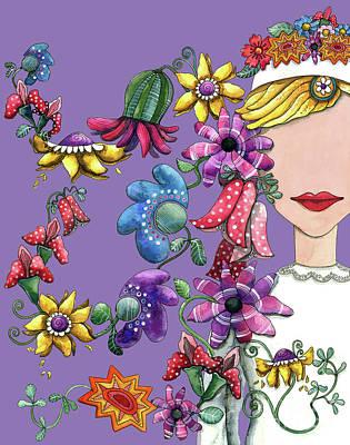 I Love The Flower Girl Lavender Poster