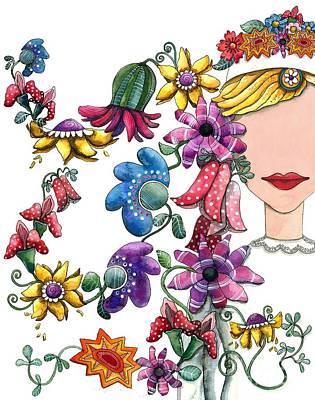 I Love The Flower Girl Poster