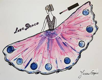 I Love To Dance Poster by Jasna Gopic