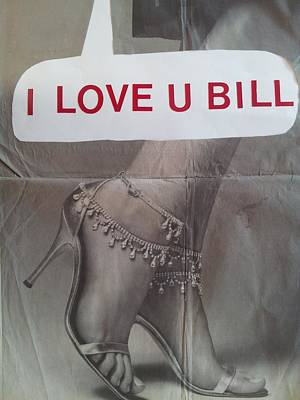 I Love You Bill 5 Poster by William Douglas