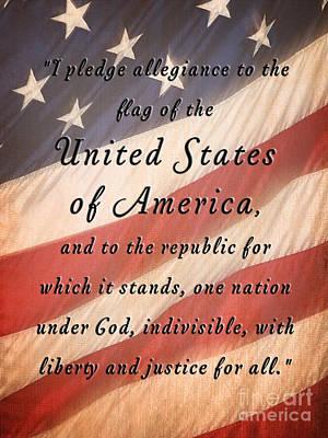 I Pledge Poster