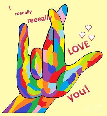 I Really Really Love You Poster