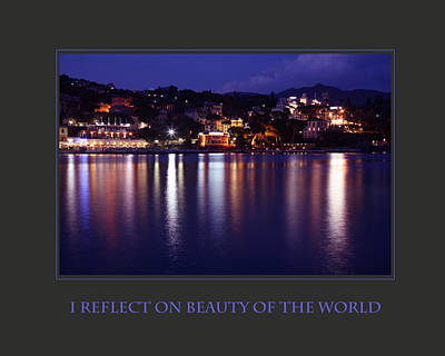 I Reflect On Beauty Of The World Poster