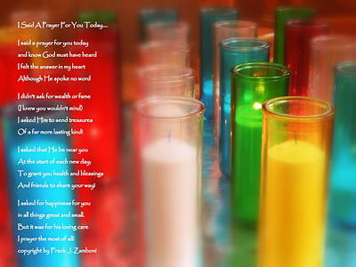 I Said A Prayer For You Today Poster by Karen Cook