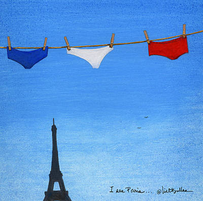Poster featuring the painting I See Paris... by Will Bullas