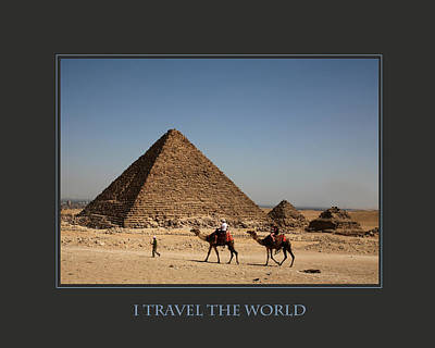 I Travel The World Cairo Poster