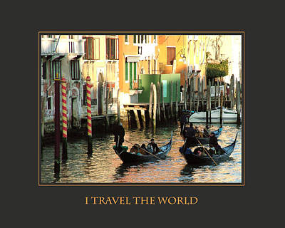 I Travel The World Venice Poster