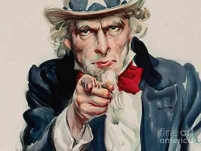 I Want You For U S Army Poster by MotionAge Designs