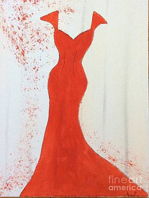 I Wear Red Poster by Nancy Pace