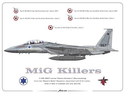 Iaf F-15d - Mig Killer Poster
