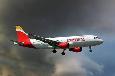 Iberia Express Airbus A320-214 Poster