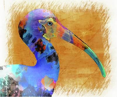 Ibis Art Poster by Barbara Chichester