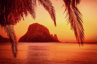 Ibiza Sunset Poster by Iryna Goodall