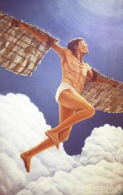 Poster featuring the painting Icarus Ascending by Laurie Stewart