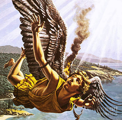 Icarus Poster by Roger Payne