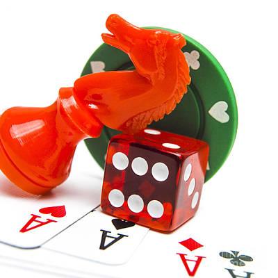 Ice And Gambling Poster by Bernard Jaubert
