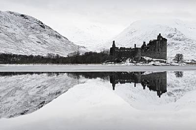 Ice And Snow At Loch Awe Poster
