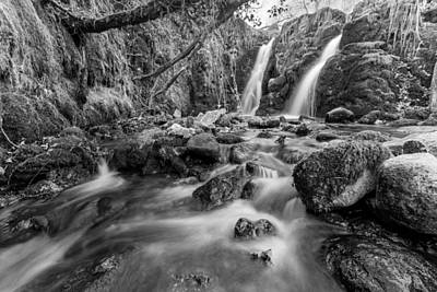 Hidden Falls Of Venford Brook Poster by Brian Northmore