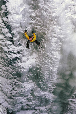Ice Climbing In The South Fork Valley Poster by Bobby Model