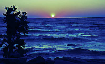 Ice Cold Ontario Lake Sunset Poster
