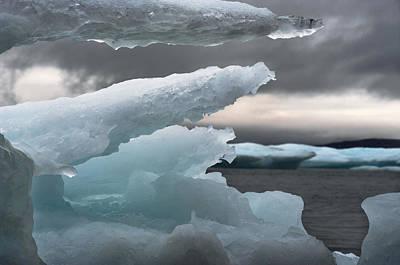 Ice Drama Poster by Elisabeth Van Eyken