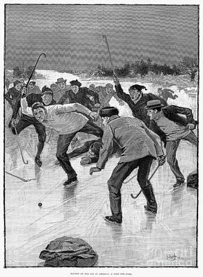 Ice Hockey, 1898 Poster
