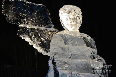 Ice Sculpture Angel  Poster by Ruth Housley
