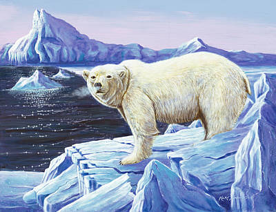 Poster featuring the painting Ice Walker by Kurt Jacobson