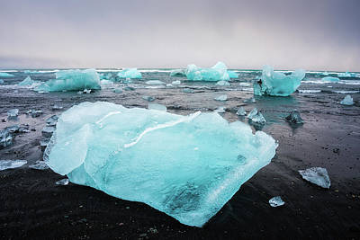 Poster featuring the photograph Iceberg Pieces In Iceland Jokulsarlon by Matthias Hauser