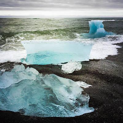 Iceberg Pieces Jokulsarlon Iceland Poster