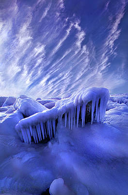 Iced Blue Poster by Phil Koch