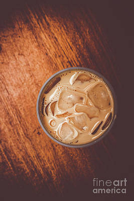 Iced Coffee Beverage On Copy Space Poster by Jorgo Photography - Wall Art Gallery